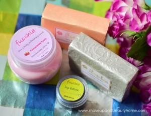 Fuschia Handmade Soaps, Face & Body Scrub and Lip Balm : Preview, Photos