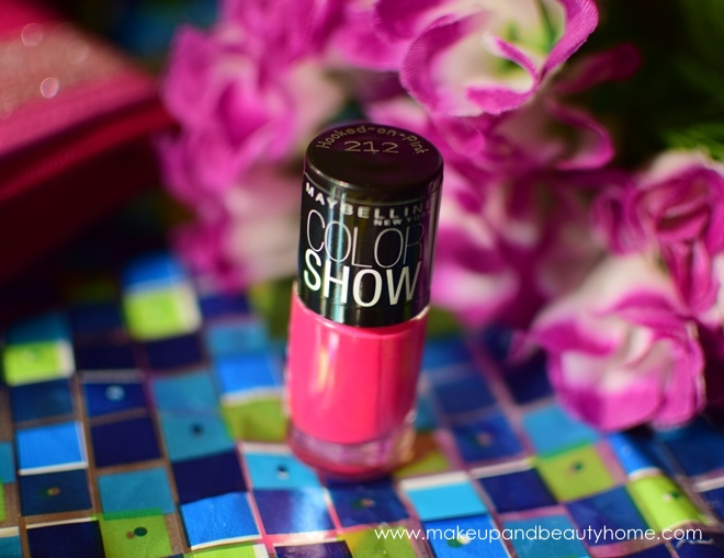 maybelline colorshow nail polish hooked on pink