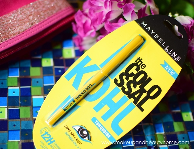 maybelline colossal kajal turquoise