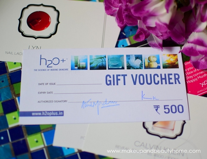 H20+ gift voucher