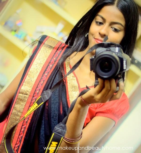 red black saree ootd