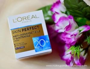 Loreal paris skin perfect 20+ whitening cream review