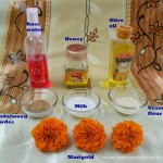 diy marigold face pack