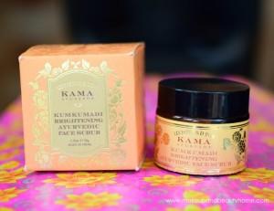Kama Ayurveda Kumkumadi Brightening Ayurvedic Face Scrub : Review and Photos