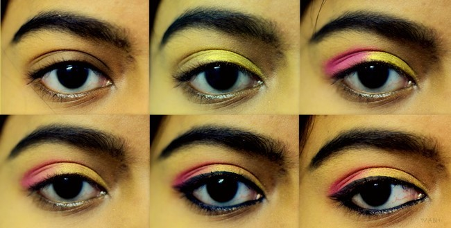 pink gold eye makeup tutorial