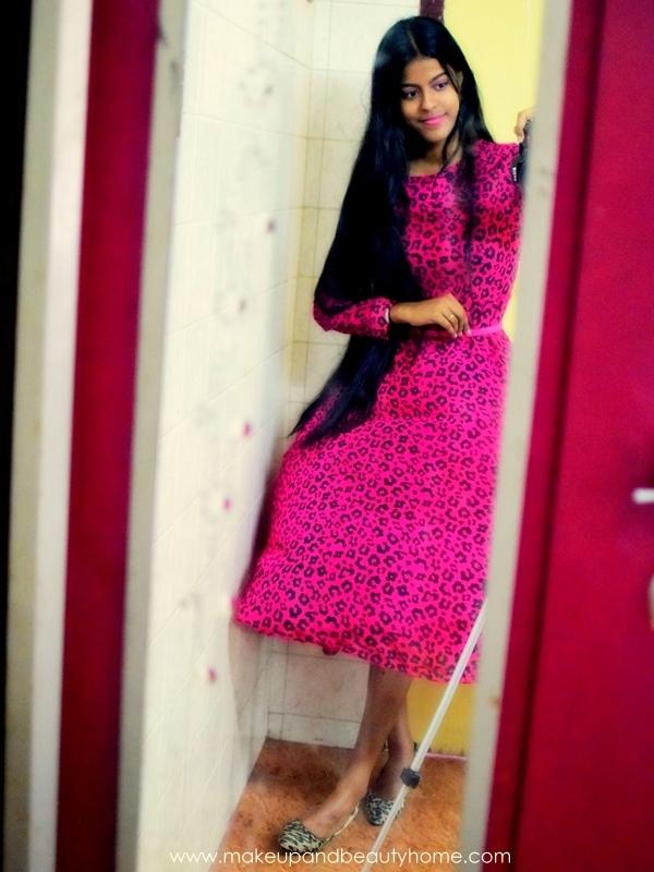pink leopard maxi dress from sheinside