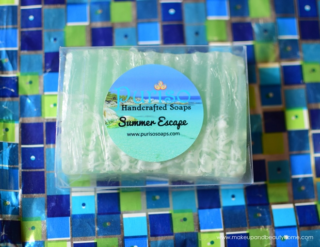 puriso handcrafted soap summer escape
