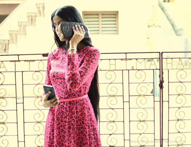 sheinside pinkmaxi dress