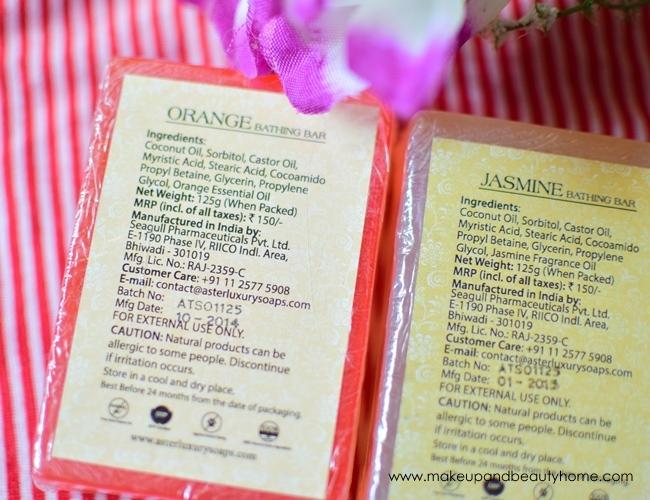 aster handmade soaps ingredients