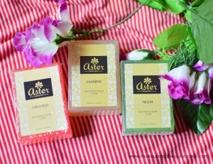 Aster Handmade Luxury Bathing Bars in Jasmine, Neem and Orange : Photos, Review