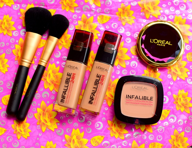 L'Oreal Paris Infallible Reno Liquid Foundation and Press Powder