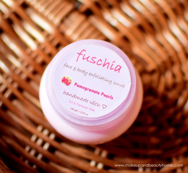 fuchsia face and body scrub