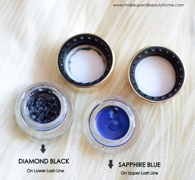 diamond black, sapphire blue eyeliners