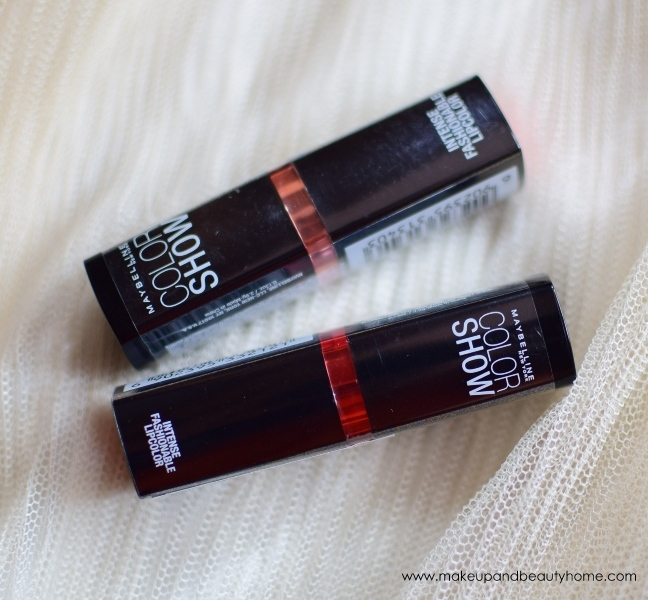 maybelline cherry crush and orange icon