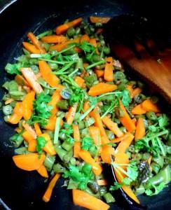 Stir fried veggies! (Mom's favorite!)