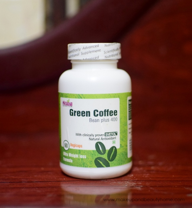 zenith nutrition green coffee bean plus 400
