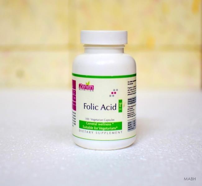 zenith nutrition folic acid supplement