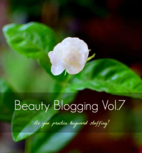 Do You Practice Keyword Stuffing? Stop it Right NOW! : Beauty Blogging Vol.7