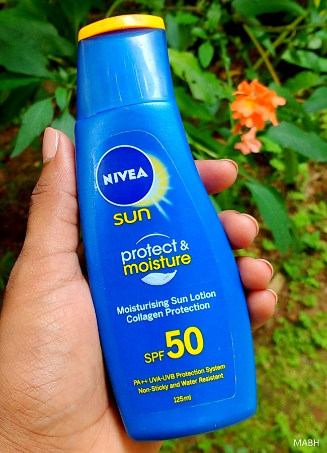 Nivea Sun Protect & Moisture Moisturizing Sun Lotion SPF 50 Review - Makeup And Beauty Home