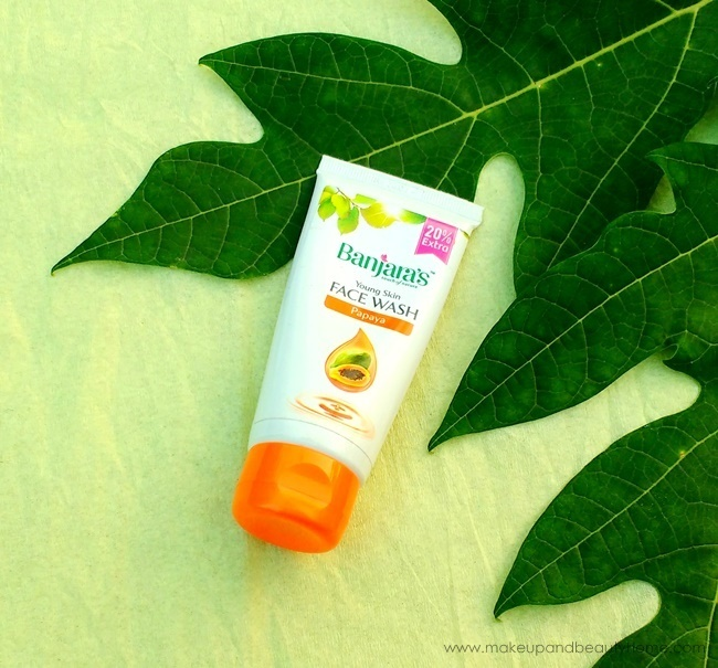 banjaras young skin papaya face wash