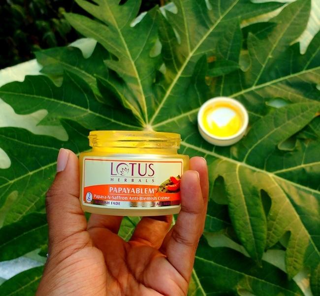 lotus herbals papayablem creme
